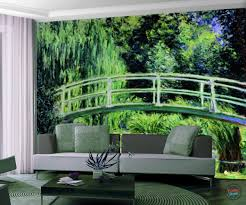 claude monet japanese bridge wall mural u2013 funky store