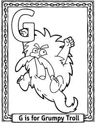 j coloring pages coloring contest grumpy troll brew pub