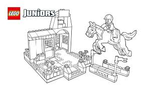 lego juniors showjumping pony coloring page coloring pages