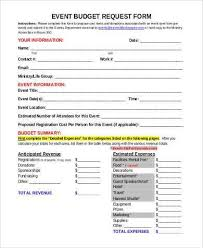 sample event budget forms 8 free documents in word pdf lukex co