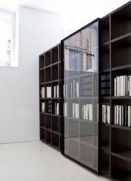 wall decoration bookshelves with glass doors regarding glorious