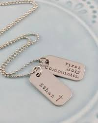 1st communion gifts for boys communion gift personalized cross necklace with cut