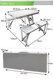 aluminum portable picnic table aluminium folding portable picnic outdoor cing set table 4