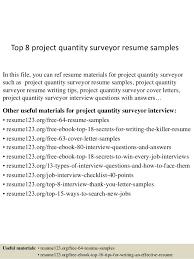 Narrative Resume Samples by Top 8 Project Quantity Surveyor Resume Samples 1 638 Jpg Cb U003d1438242858