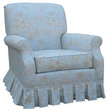 Rocking Chair For Nursery Pregnancy Shabby Chic Blue Toile Upholstered By Mylemonadestands