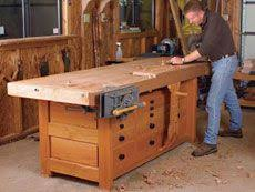 Woodworking Bench Plans by Woodworking Workbench Plans The Essential Workbench This Classic