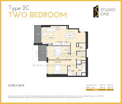 floor plans studio one dubai marina by select group