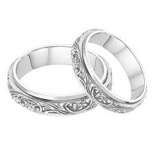 white gold wedding band sets floral vineyard wedding band set in 14k white gold