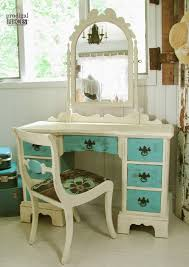 Turquoise Vanity Table The Ugly Duckling Dressing Table My Hubby Said It Was Junk