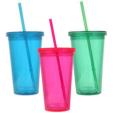 plastic cups with lids bulk wall translucent plastic tumblers with lids and straws