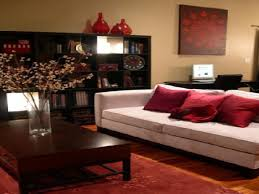 red grey living room ideas padded cushions polished oak floor