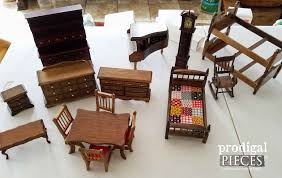 Doll House Furniture Repurposed Radio Cabinet Turned Dollhouse Prodigal Pieces