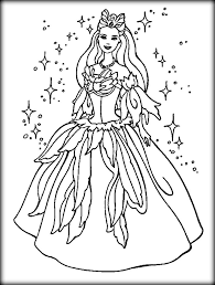 barbie princess coloring pages printable color zini