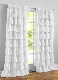 White Ruffle Curtains Ruffled Layered Curtains Carolwrightgifts
