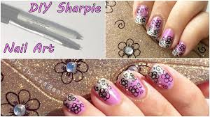 diy sharpie pen nail art tutorial youtube