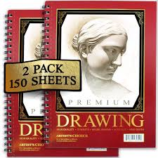 amazon com artist u0027s choice sketch pad 75 sheets pack of 2 arts