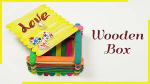 popsicle stick crafts ice cream stick box for jewelry box gift