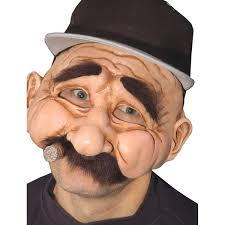 skin mask halloween amazon com zagone stan the man mask older male with cigar