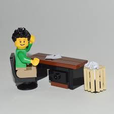 Lego Office Lego Furniture Office Desk Set W Desk U0026 Chair Waste Basket