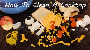 Clean Electric Cooktop How To Clean A Glass Top Stove Electric Range Cooktop Youtube