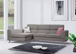 Grey Sofa Sectional by Kileen Modern Contemporary Grey Linen Fabric Sectional Sofa With