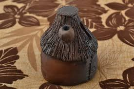 madeheart u003e money box made of clay figurine in shape of house