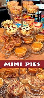 mini pies food ideas thanksgiving and alternative