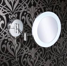 hib leo led illuminated magnifying bathroom mirror 22300
