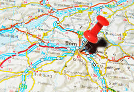 Europe Map 1500 by London Uk 13 June 2012 Bern Switzerland Marked With Red