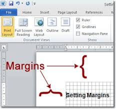 How To Build A Resume On Word 2010 Setting Margins In Word