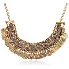 chunky necklace charms images Exquisite charm chain statement bib chunky collar pendant necklace jpg