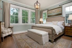 traditional master bedroom with high ceiling by j banks design