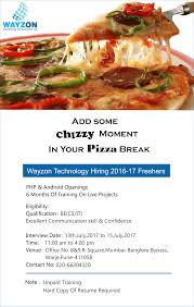 resume writing services in pune wayzon technology services pvt ltd linkedin wayzon technology services private limited hiring fresher of 2016 2017 batch