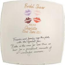 bridal shower autograph plate bridal shower gift signature plate square dreamair co uk