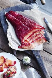 beet cured gravlax the globe and mail
