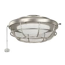 kichler fan light kit kichler 370044ni fan light kits industrial mesh light fixture