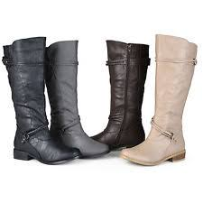womens boots large calf wide calf boots ebay