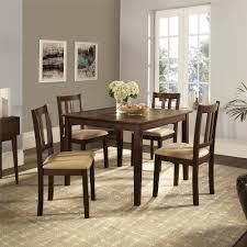 espresso dining room set dorel redmond 5 piece espresso beige dining set fa7239 the home