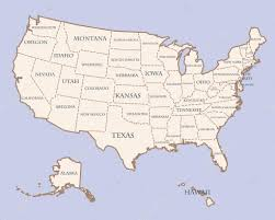 Usa Map With State Names by