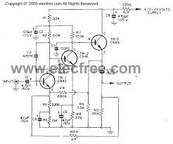 dynamic microphone preamplifier circuit using c945