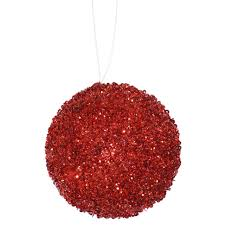 3ct berry sequin and glitter drenched ornaments