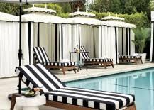 Black And White Patio Umbrella Patio Furniture And Decor Trend Bold Black And White