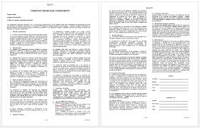 reseller contract template label agreement template microsoft word templates