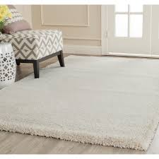 6 X9 Area Rugs by Unique Loom Solid Shag Pure Ivory 6 Ft X 9 Ft Area Rug 3127805