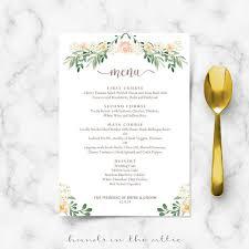 wedding menu templates rustic wedding menu rehearsal dinner menu template sit menus