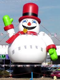 yolloy frosty the snowmen up for sale