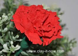 Red Carnations Red Carnation Clay Flower