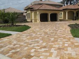 Useful And Attractive Ideas Paver Useful Tips For Amazing Driveway Landscaping Landscape Concrete