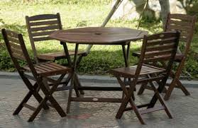Amazon Com Patio Furniture by Amazoncom 5pc Outdoor Wood Folding Patio Dining Set And Amazing 5
