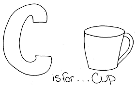 C Is For Cup Coloring Pages Alphabet Alphabet Coloring Pages Of Cup Coloring Page